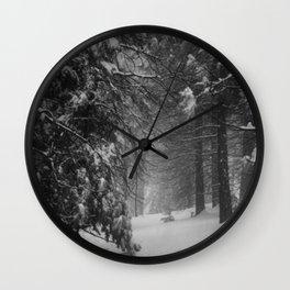 Winter Snow Wall Clock