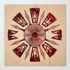 dashása redstone mandala Canvas Print