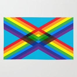 crossing rainbows Rug