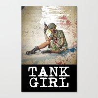 tank girl Canvas Prints featuring Tank Girl by Joe Badon
