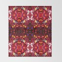 Red abstract mosaic shiny glitter pattern Mandala by pldesign