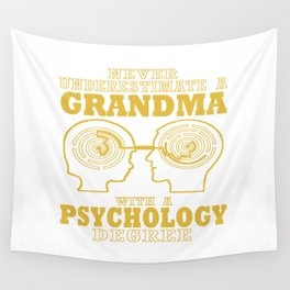 Psychology Grandma Wall Tapestry