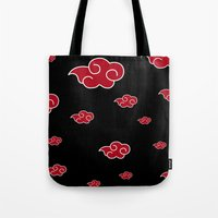 lannister Tote Bags featuring AKATSUKI CLAN  by BeautyArtGalery