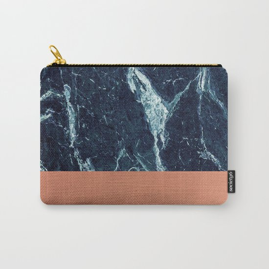 Blue Marble & Copper Carry-All Pouch