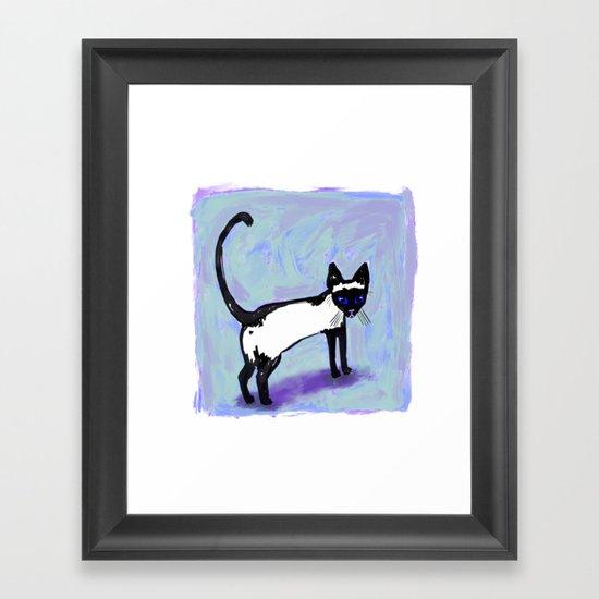 Cat Tocks Framed Art Print