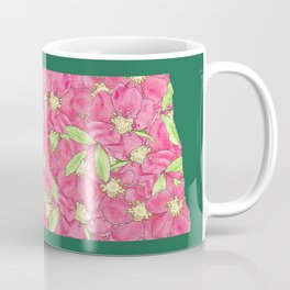 North Dakota in Flowers Coffee Mug