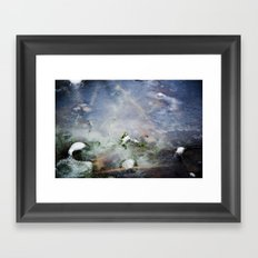 frozen lakes Framed Art Print