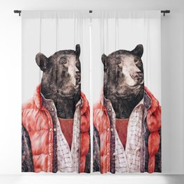 Black Bear Blackout Curtain