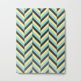 Offset Chevron Metal Print