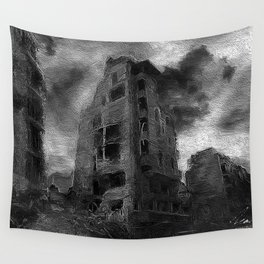 War Torn City V3 Wall Tapestry