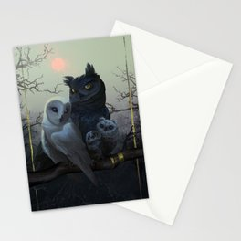 Owl Family Portrait Stationery Cards