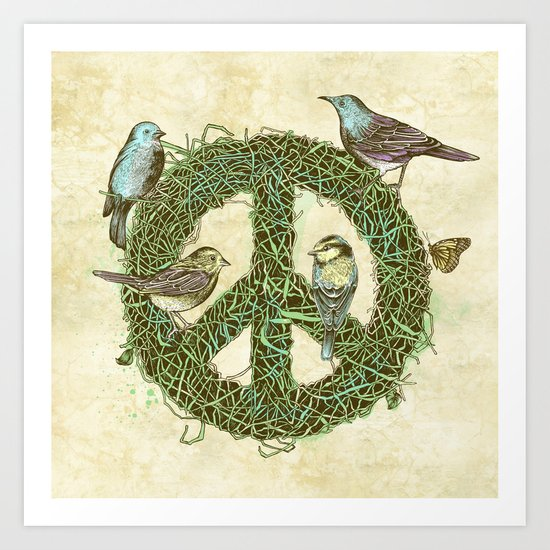 Peace Talks Art Print