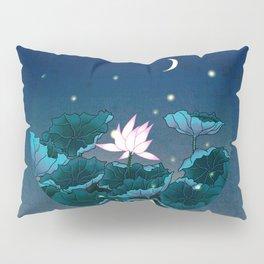 Minhwa: Lotus Pond at Night A Type (Korean traditional/folk art) Pillow Sham