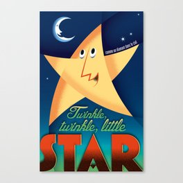 Twinkle twinkle little star vintage French style Canvas Print
