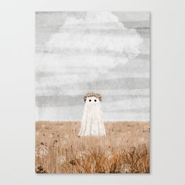 There's a Ghost in the Meadow Canvas Print