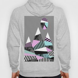 Crazy Mountains - Abstract, Stripes, block colour and marble effect Hoody