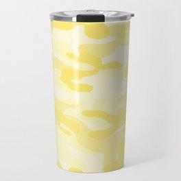 light Yellow Military Camouflage Pattern Travel Mug