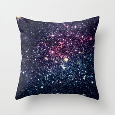 Subtle Color Stars Throw Pillow