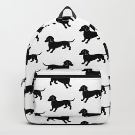 Dachshund Pattern Backpack
