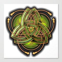 Emerald Celtic Triquetra Knot Canvas Print