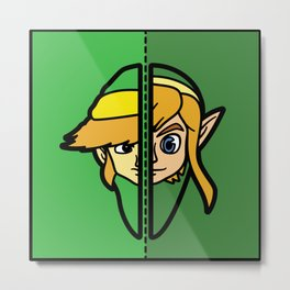 Old & New Link Comparison Metal Print
