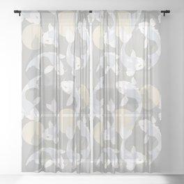 Koi fish pattern 004 Sheer Curtain