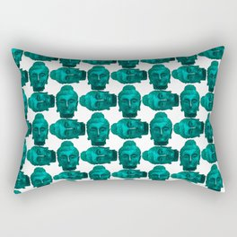Turquoise Buddha Rectangular Pillow