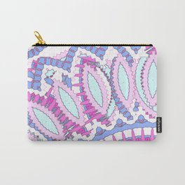 Mandala Explosion in Pink & Purple Carry-All Pouch