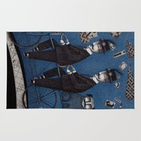 men Area & Throw Rugs featuring Two Men Travelling by Judith Clay
