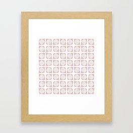 Mid Century Modern Pattern 272 Dusty Rose Framed Art Print