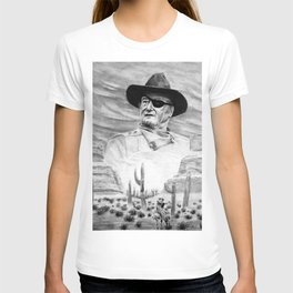 John Wayne Portrait Drawing T-shirt