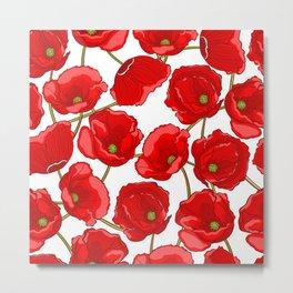 cute red poppies Metal Print