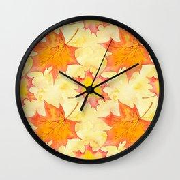 Autumn leaves #15 Wall Clock