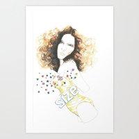 sparkle Art Prints featuring sparkle by jollypot