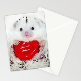 Hedgehog Valentine's Day card (request) Stationery Cards