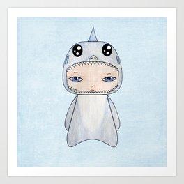 A Boy - Shark Art Print