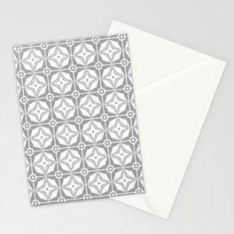 Grey Stars Stationery Cards