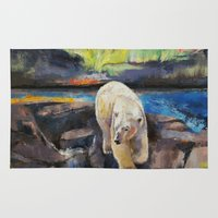 northern lights Area & Throw Rugs featuring Northern Lights by Michael Creese