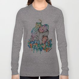 Rainbow Tiger Butterfly Girl Long Sleeve T-shirt