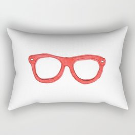 Red Nerd Glasses Rectangular Pillow