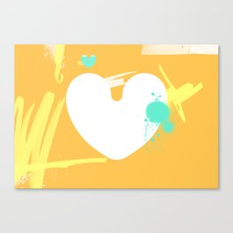 Where do I connect to your heart? Canvas Print