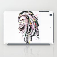 marley iPad Cases featuring B Marley Portrait  by Alina N