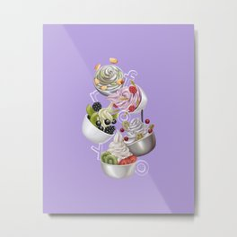 Android Eats: froyo peg Metal Print