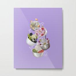 Android Eats: froyo peg Metal Print