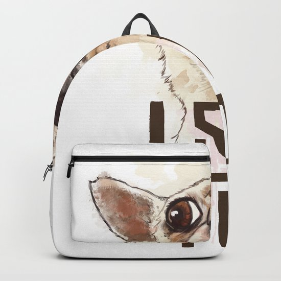 Funny Chihuahua illustration, I see you Backpack