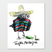 to kill a mockingbird Canvas Prints featuring Tequilla Mockingbird by Grindilkin