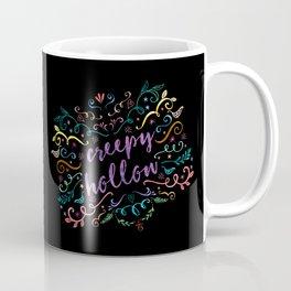 Creepy Hollow - color on black Coffee Mug