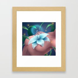 Flower-Hearted Framed Art Print