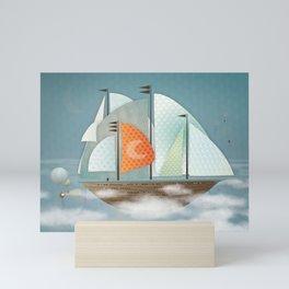 Sailing on clouds Mini Art Print