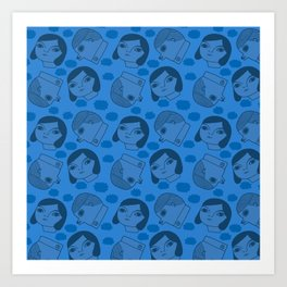 Pattern Project #36 / Heads in Clouds Art Print